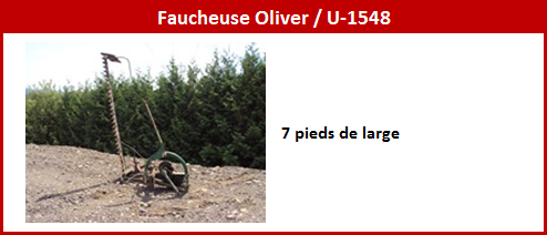Faucheuse Oliver