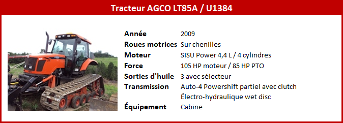 Tracteur AGCO LT85A
