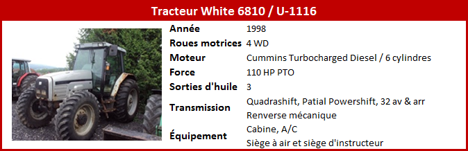 Tracteur White 6810